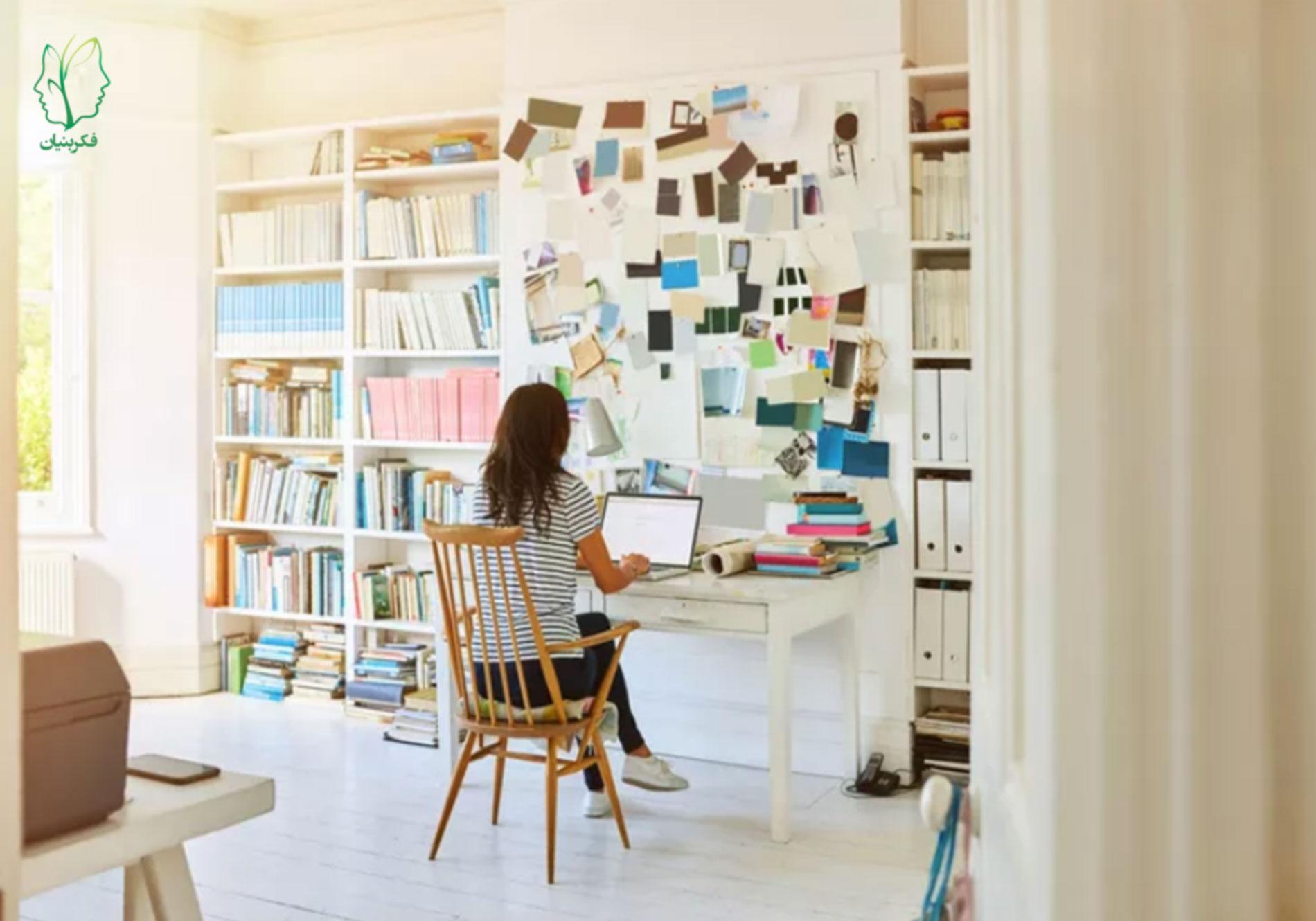 نحوهی مدیریت استرس کار کردن از خانه