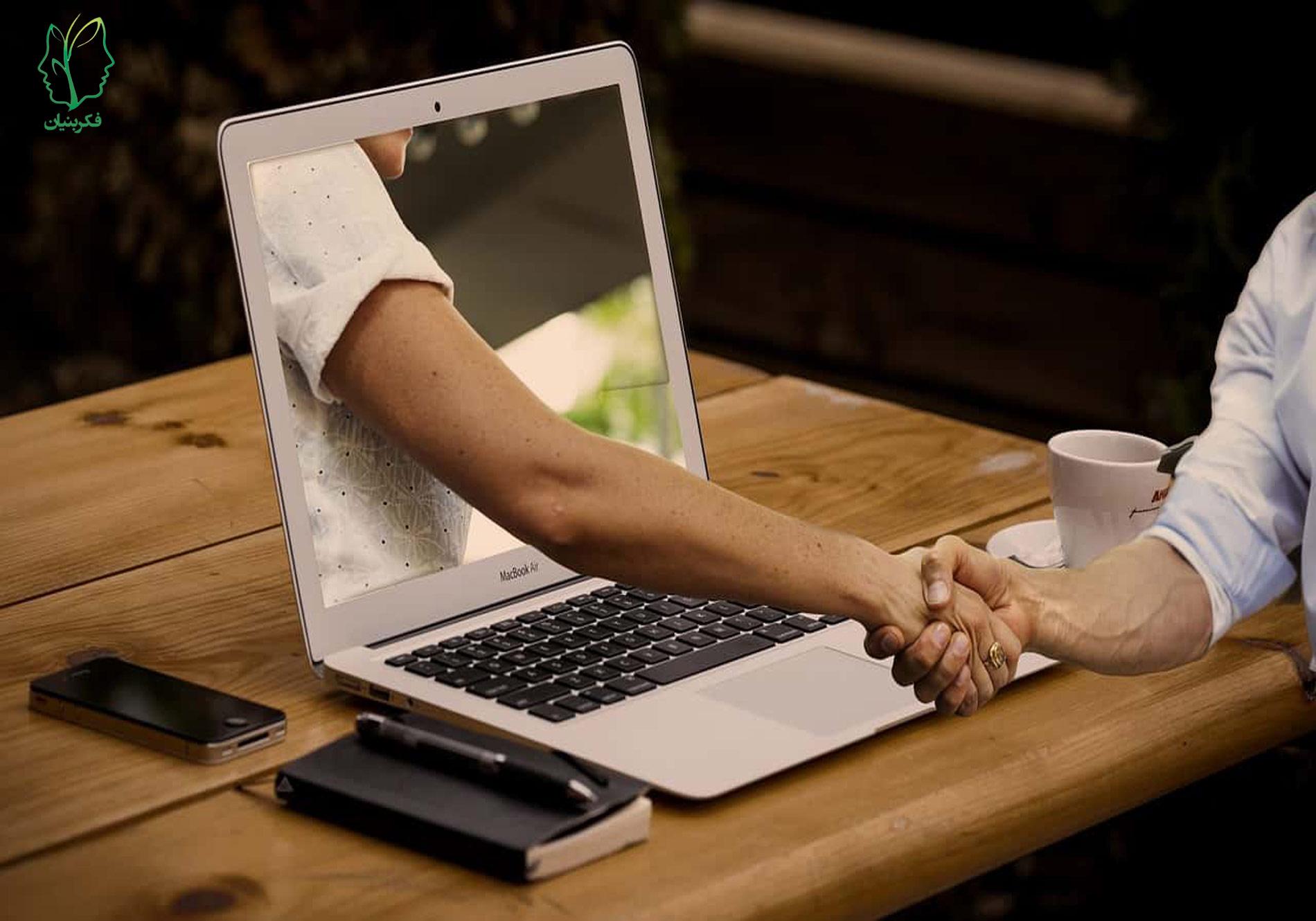 تغییر دادن نوع درمان از حضوری به آنلاین در طول شیوع ویروس کرونا